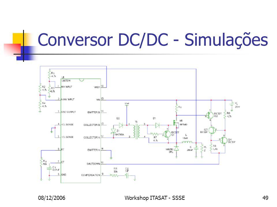 Conversor DC/DC - Simulações