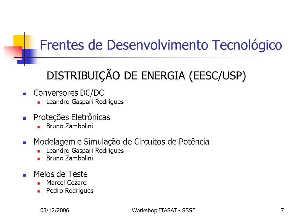Frentes de Desenvolvimento Tecnológico