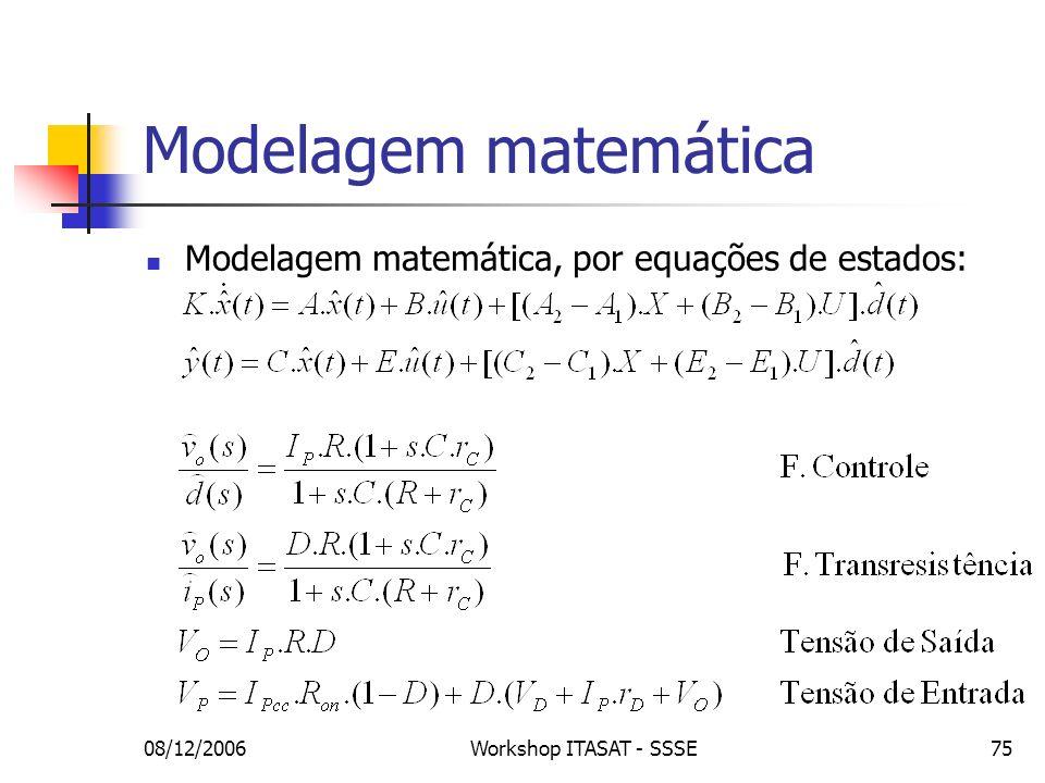 Modelagem matemática Modelagem matemática, por equações de estados: