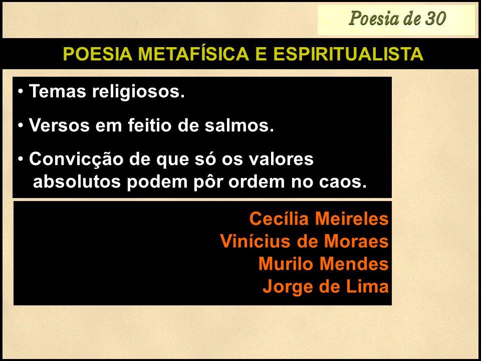 POESIA METAFÍSICA E ESPIRITUALISTA