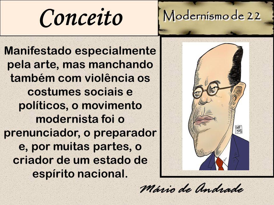 Conceito Mário de Andrade Modernismo de 22