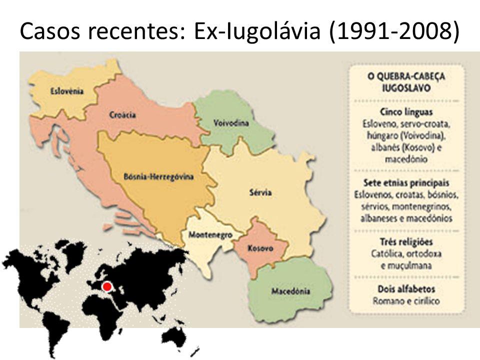 Casos recentes: Ex-Iugolávia (1991-2008)