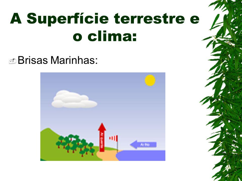 A Superfície terrestre e o clima: