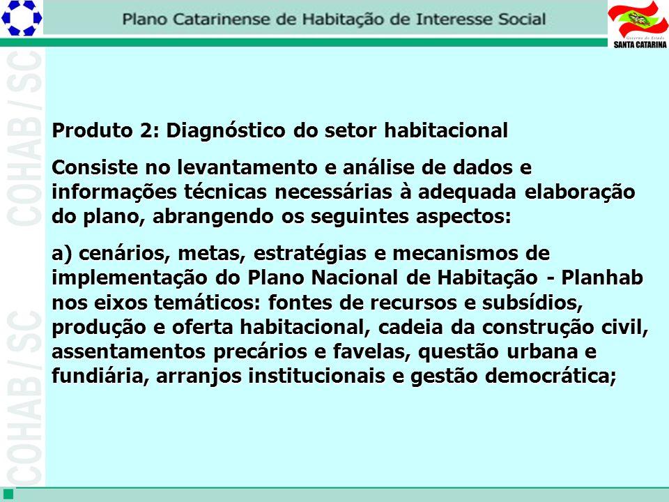 Produto 2: Diagnóstico do setor habitacional