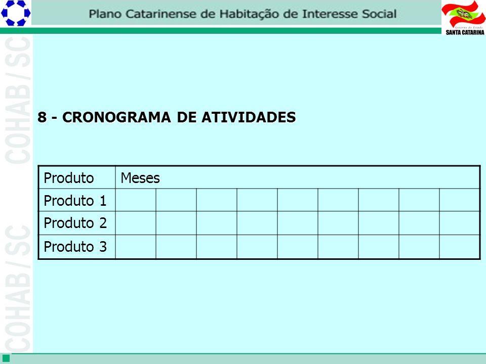 8 - CRONOGRAMA DE ATIVIDADES