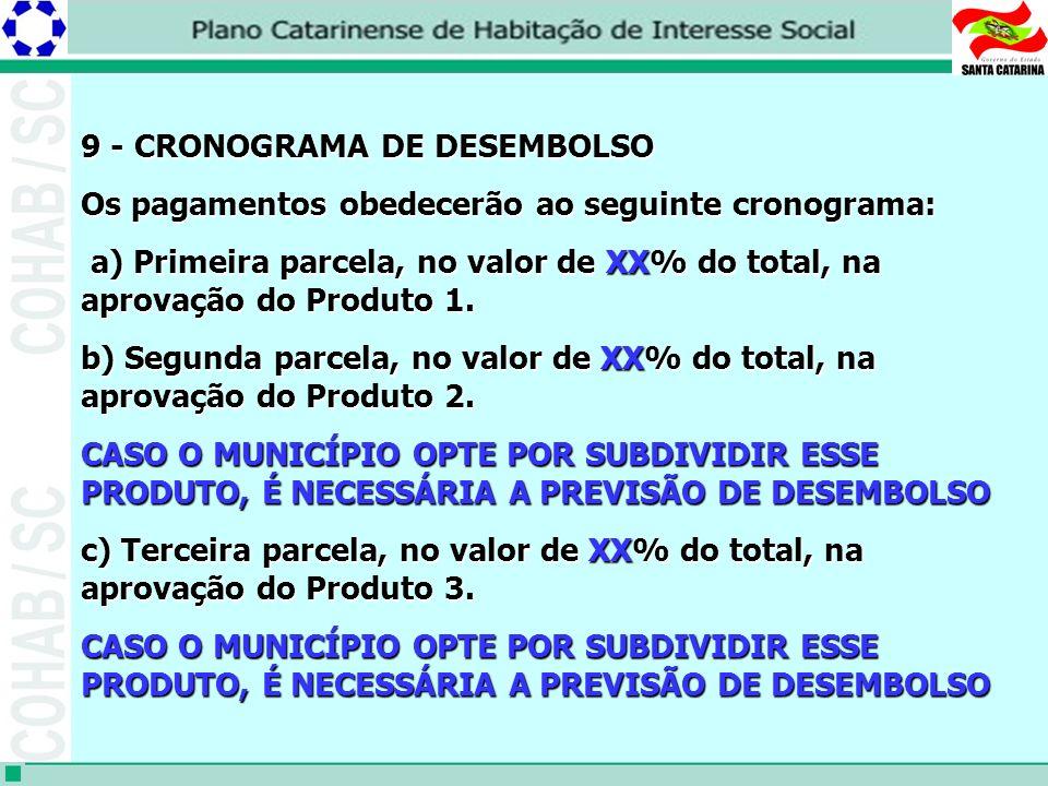 9 - CRONOGRAMA DE DESEMBOLSO