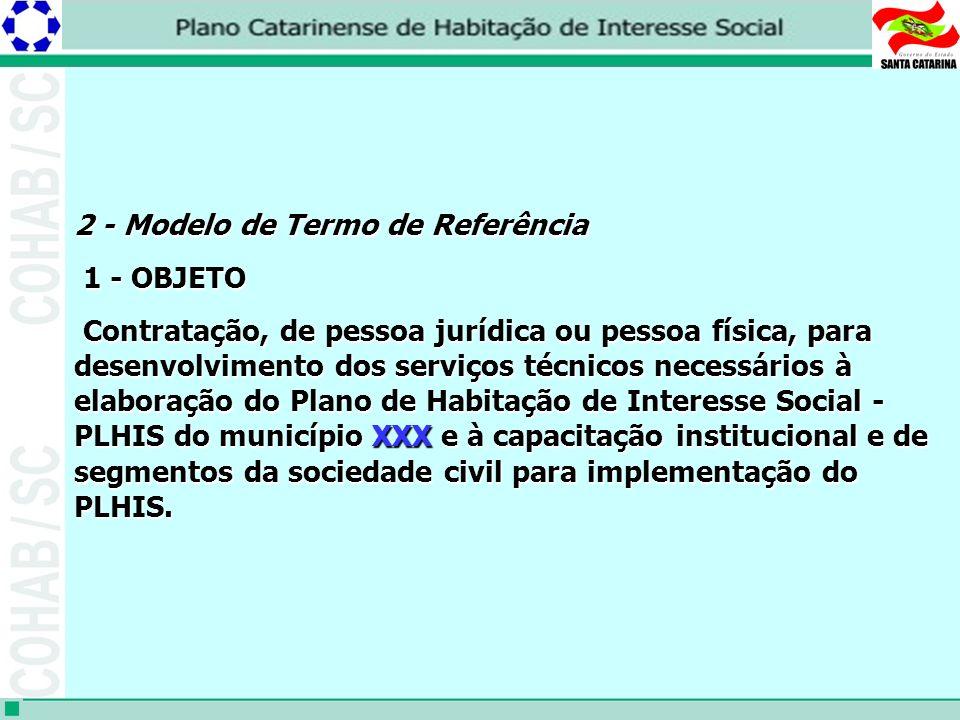 2 - Modelo de Termo de Referência