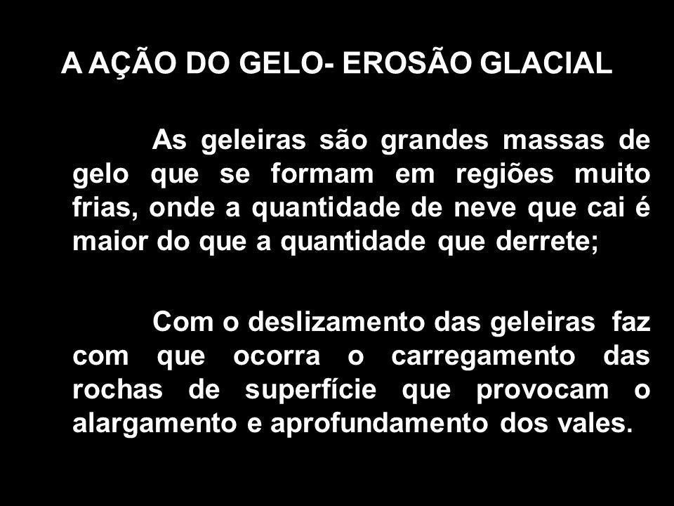 A AÇÃO DO GELO- EROSÃO GLACIAL