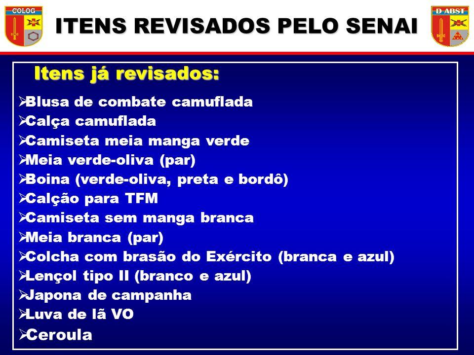 ITENS REVISADOS PELO SENAI