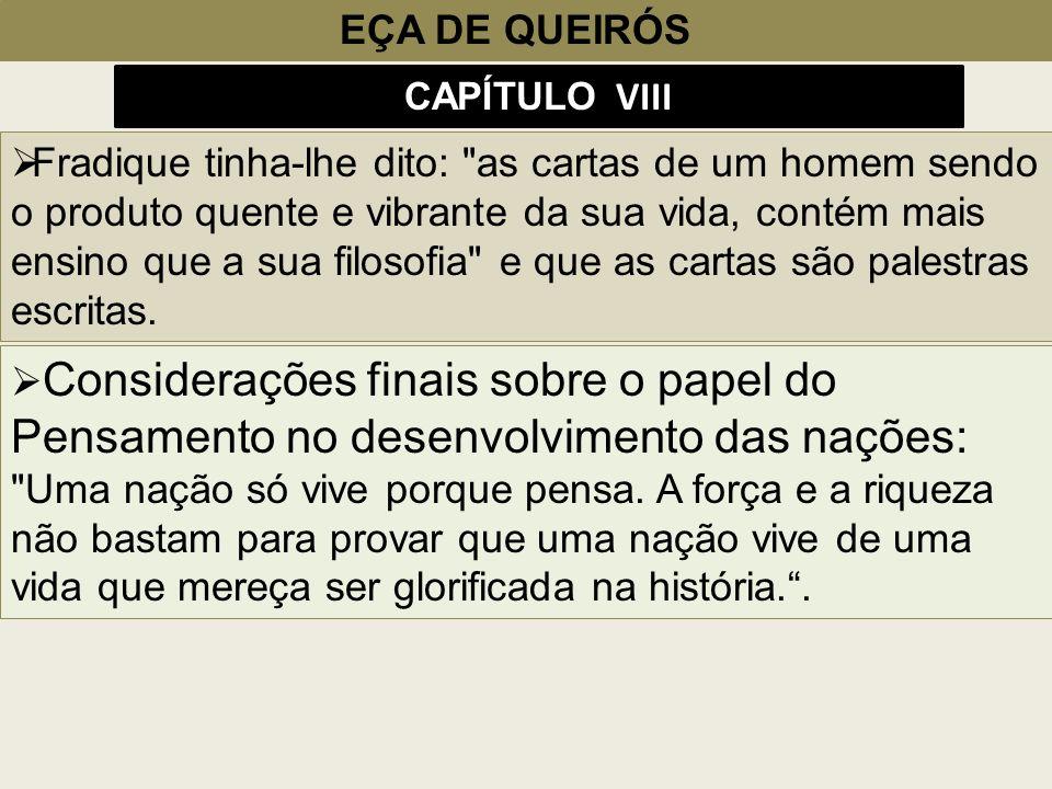 EÇA DE QUEIRÓS CAPÍTULO VIII.