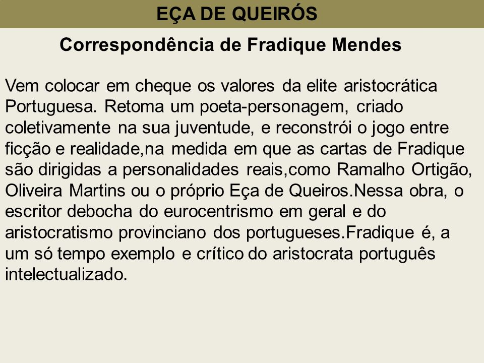 Correspondência de Fradique Mendes