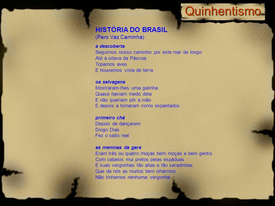 Quinhentismo HISTÓRIA DO BRASIL (Pero Vaz Caminha)