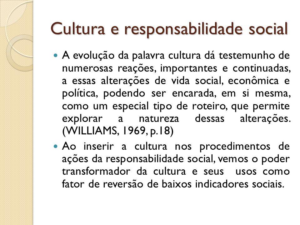 Cultura e responsabilidade social
