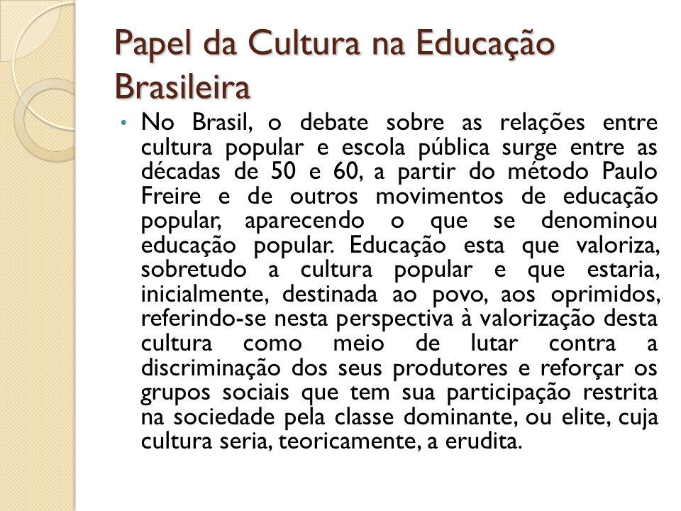 Papel da Cultura na Educação Brasileira