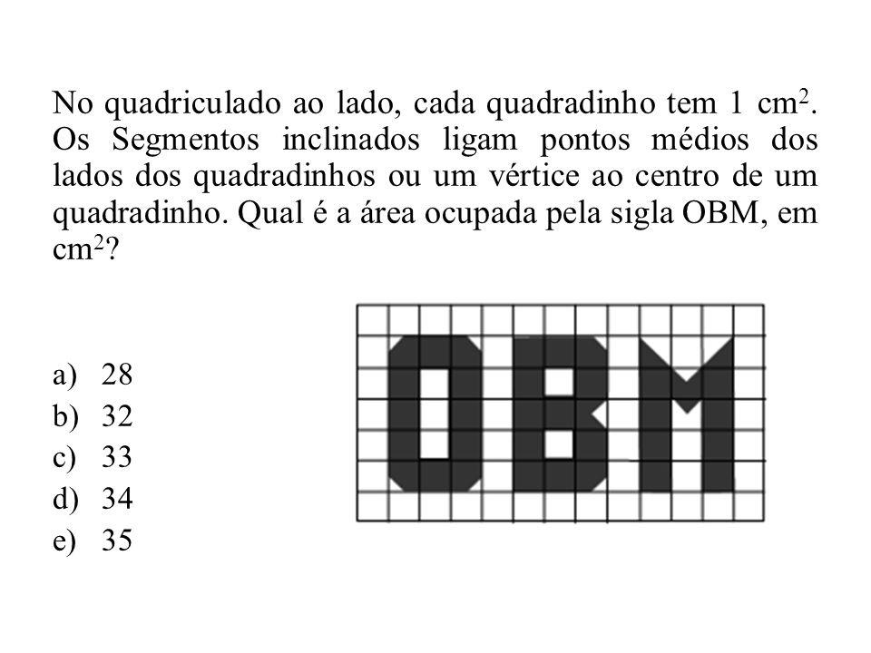 No quadriculado ao lado, cada quadradinho tem 1 cm2