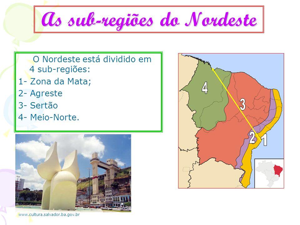 As sub-regiões do Nordeste