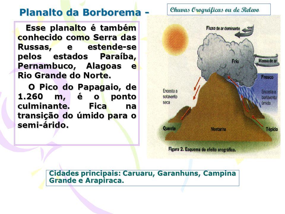 Cidades principais: Caruaru, Garanhuns, Campina Grande e Arapiraca.
