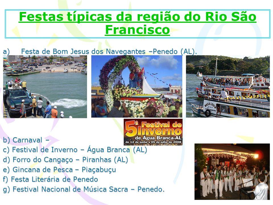 Festas típicas da região do Rio São Francisco