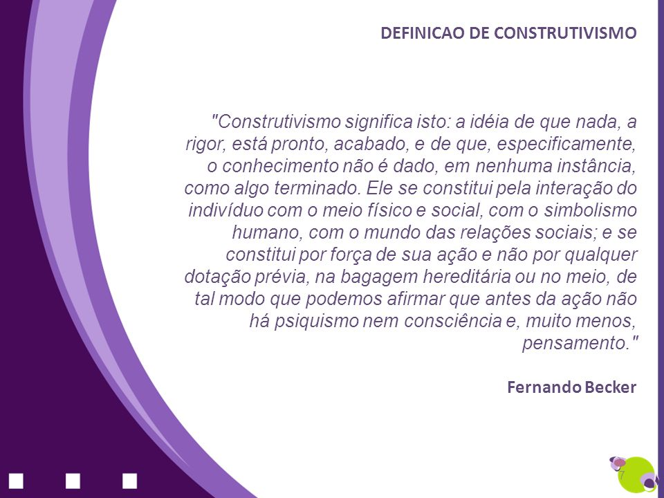 DEFINICAO DE CONSTRUTIVISMO