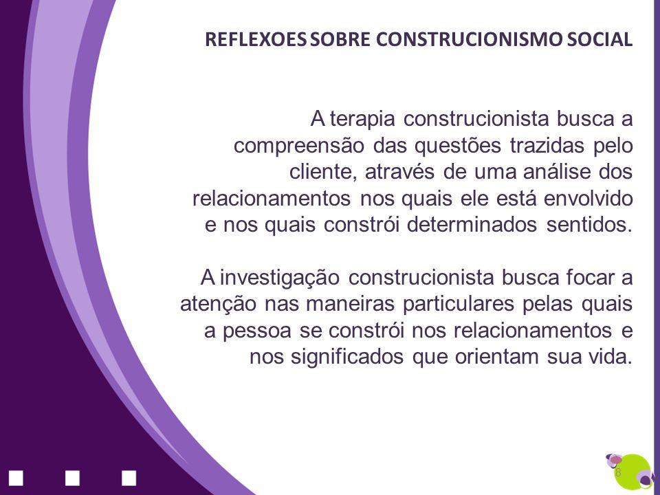 REFLEXOES SOBRE CONSTRUCIONISMO SOCIAL