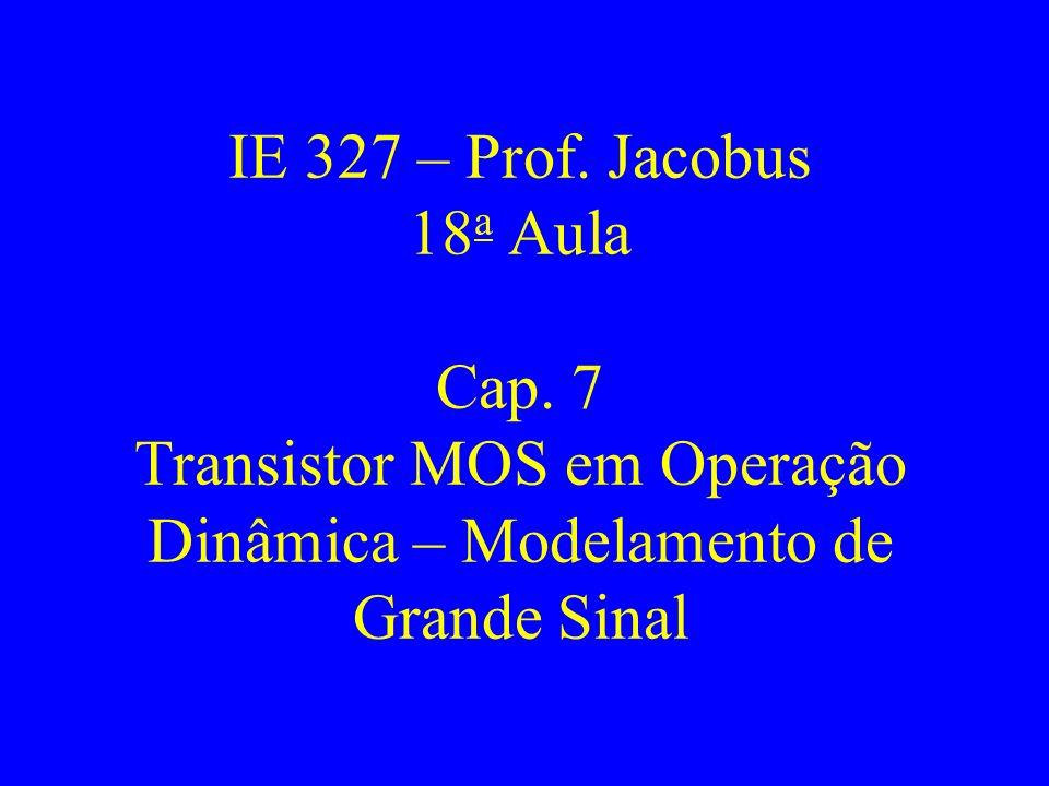 IE 327 – Prof. Jacobus 18a Aula Cap