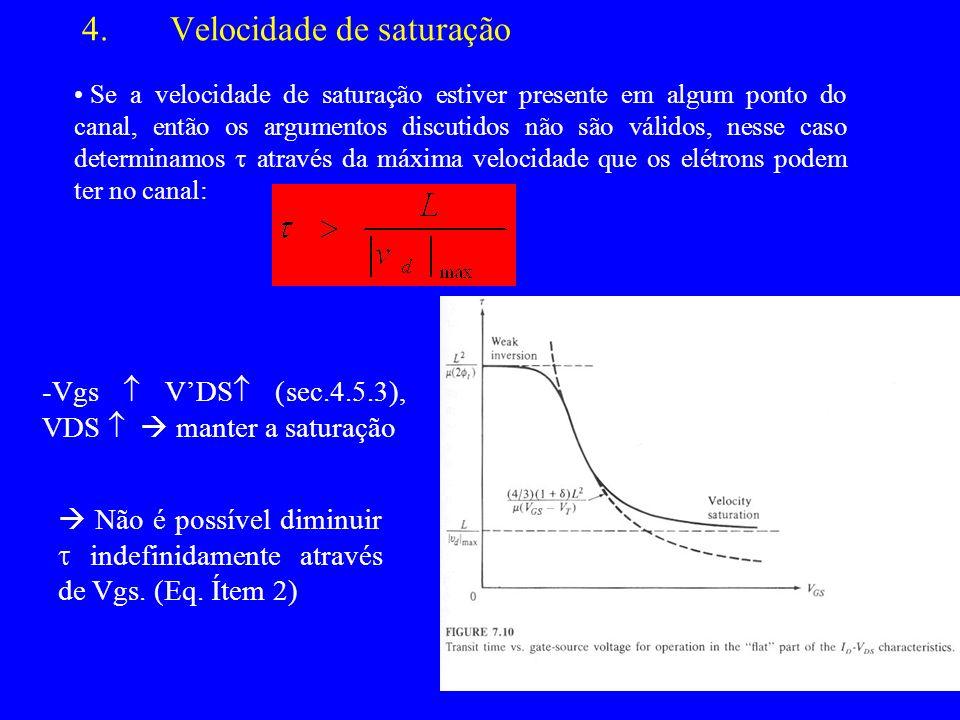 Velocidade de saturação