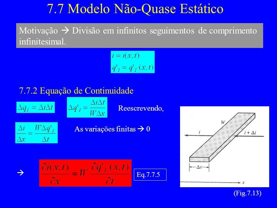 7.7 Modelo Não-Quase Estático
