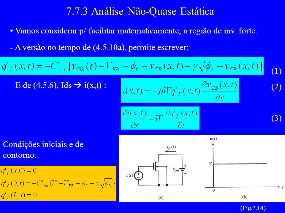 7.7.3 Análise Não-Quase Estática