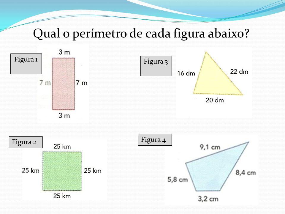 Qual o perímetro de cada figura abaixo
