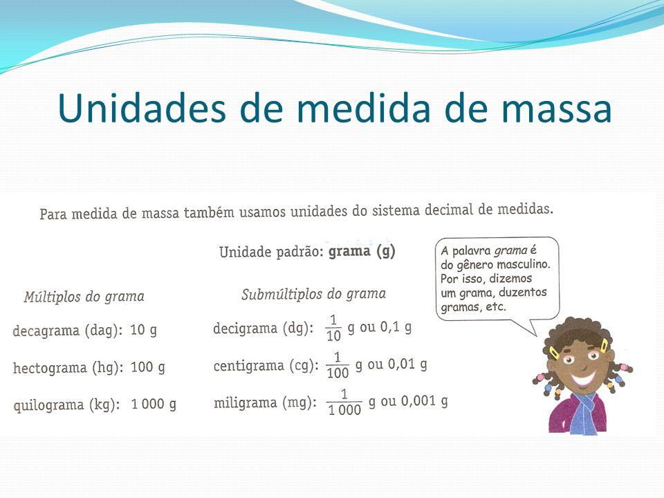Unidades de medida de massa