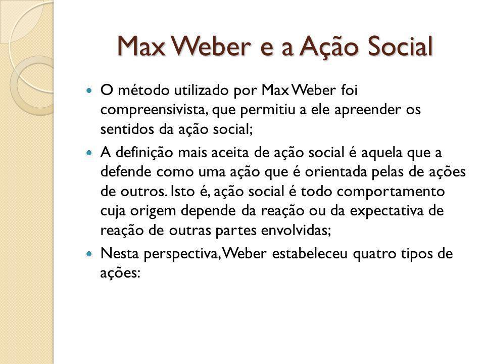 Max Weber e a Ação Social