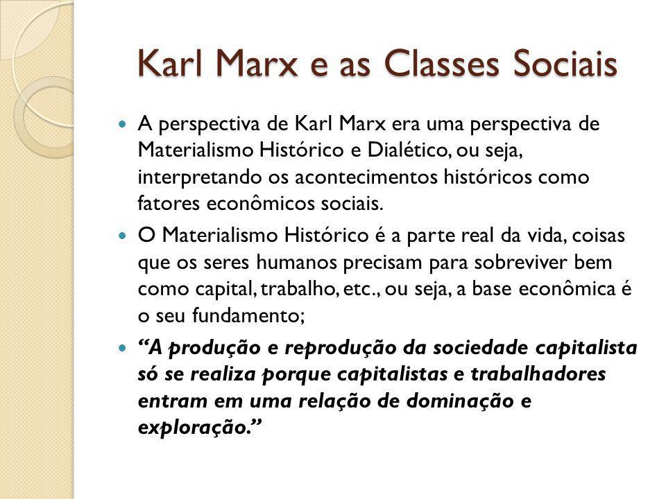 Karl Marx e as Classes Sociais