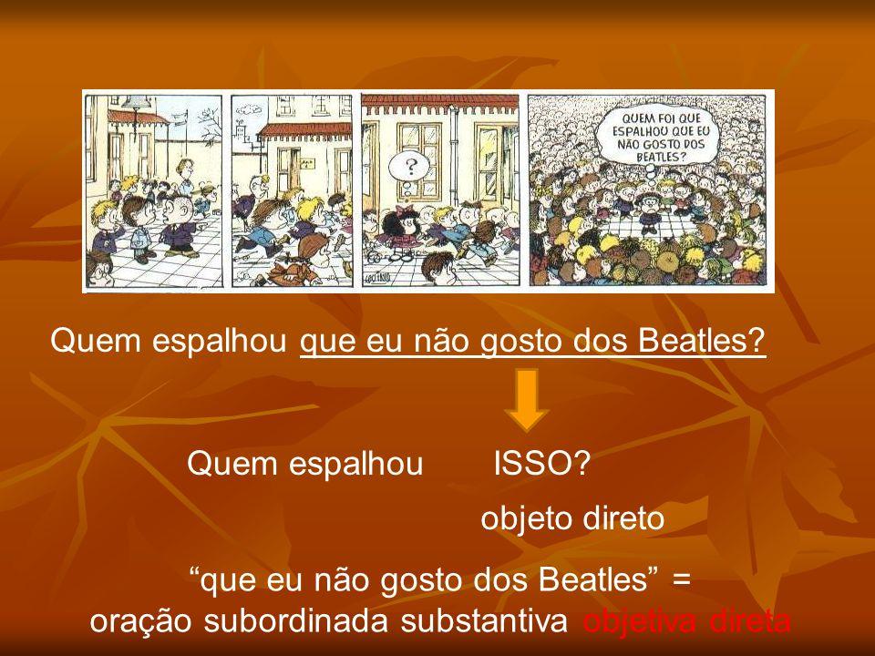 Quem espalhou que eu não gosto dos Beatles