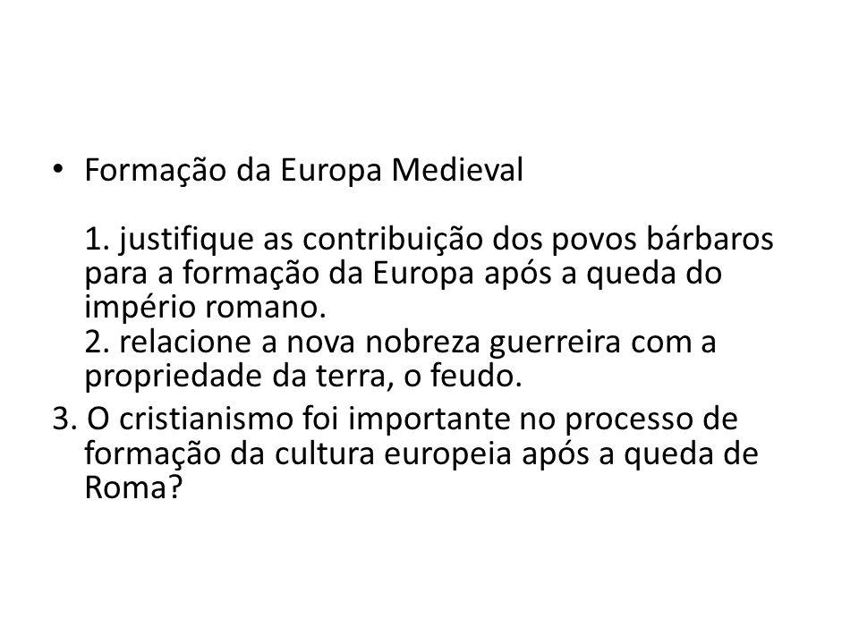 Formação da Europa Medieval 1