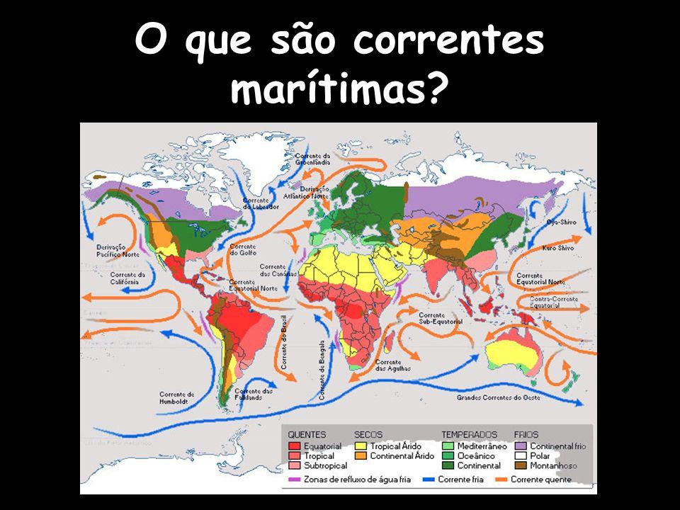 O que são correntes marítimas