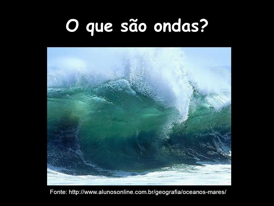 O que são ondas Fonte: http://www.alunosonline.com.br/geografia/oceanos-mares/