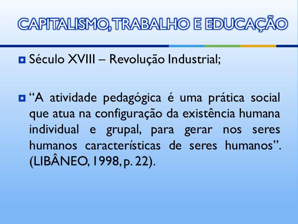 CAPITALISMO, TRABALHO E EDUCAÇÃO