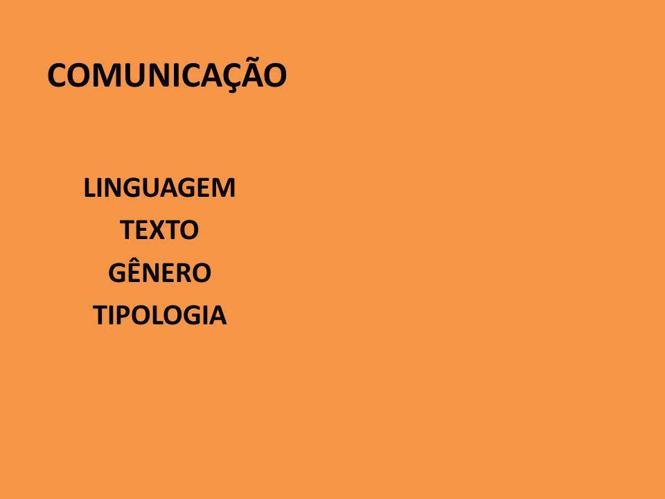 LINGUAGEM TEXTO GÊNERO TIPOLOGIA