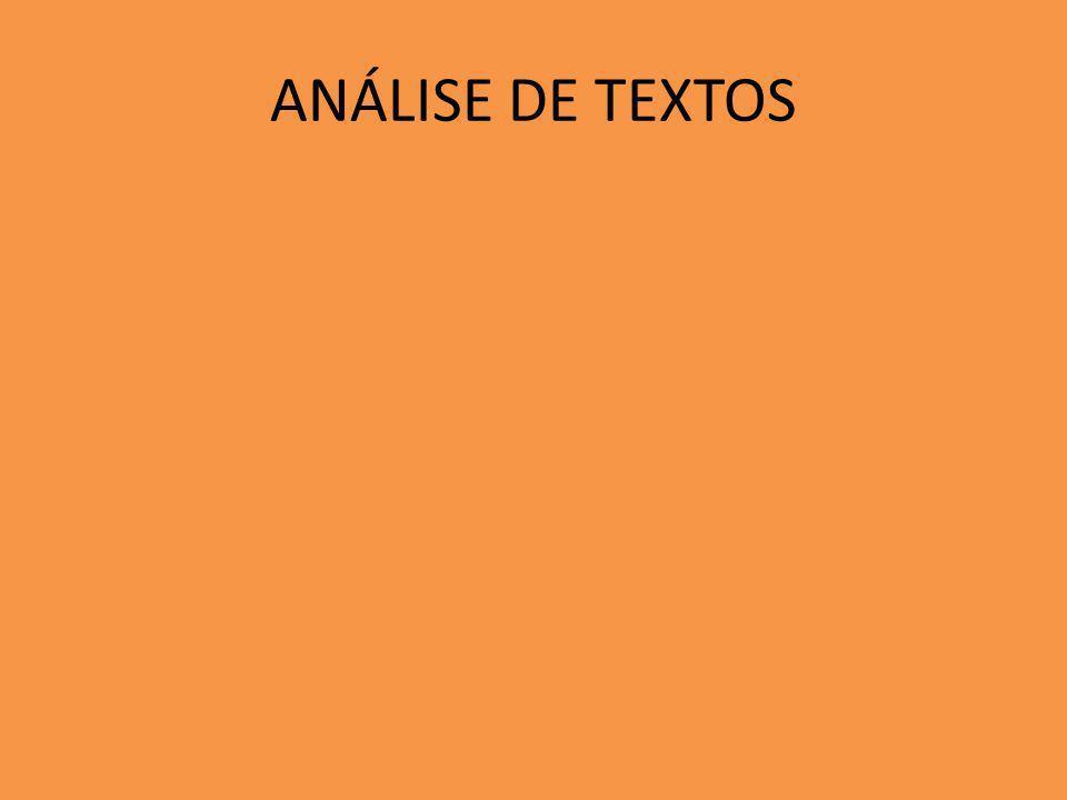 ANÁLISE DE TEXTOS
