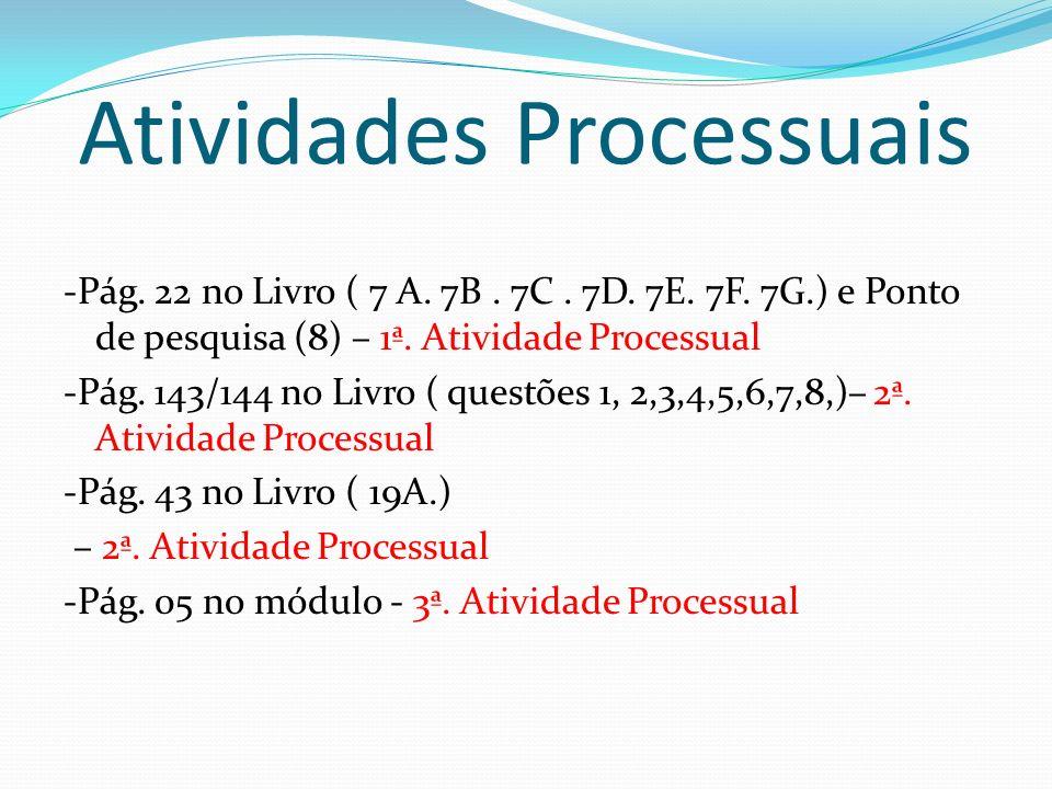 Atividades Processuais