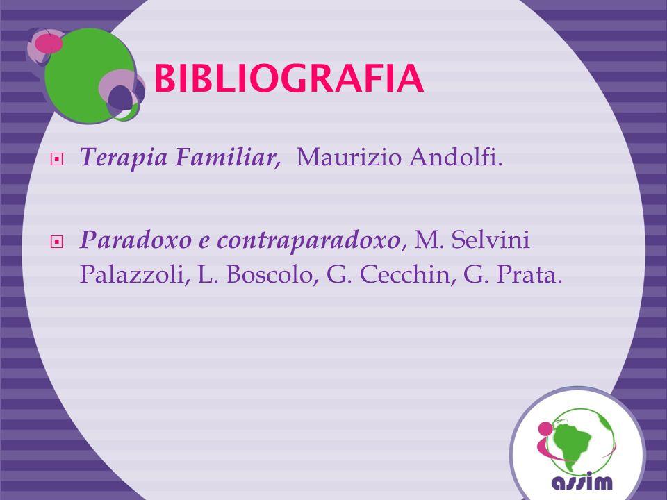 BIBLIOGRAFIA Terapia Familiar, Maurizio Andolfi.