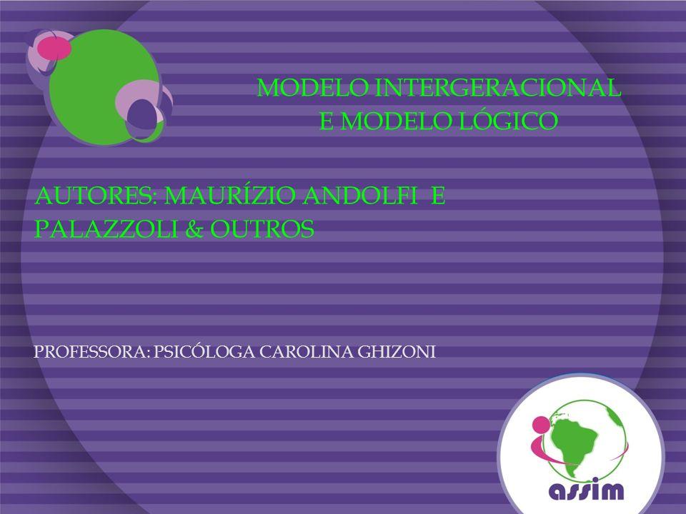 MODELO INTERGERACIONAL E MODELO LÓGICO