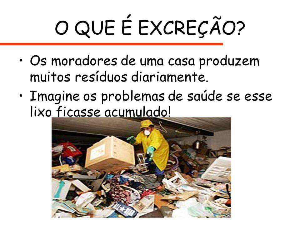 O QUE É EXCREÇÃO. Os moradores de uma casa produzem muitos resíduos diariamente.