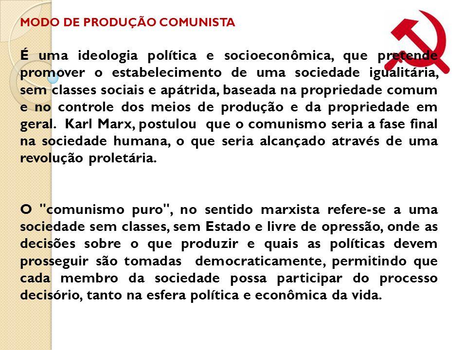 MODO DE PRODUÇÃO COMUNISTA