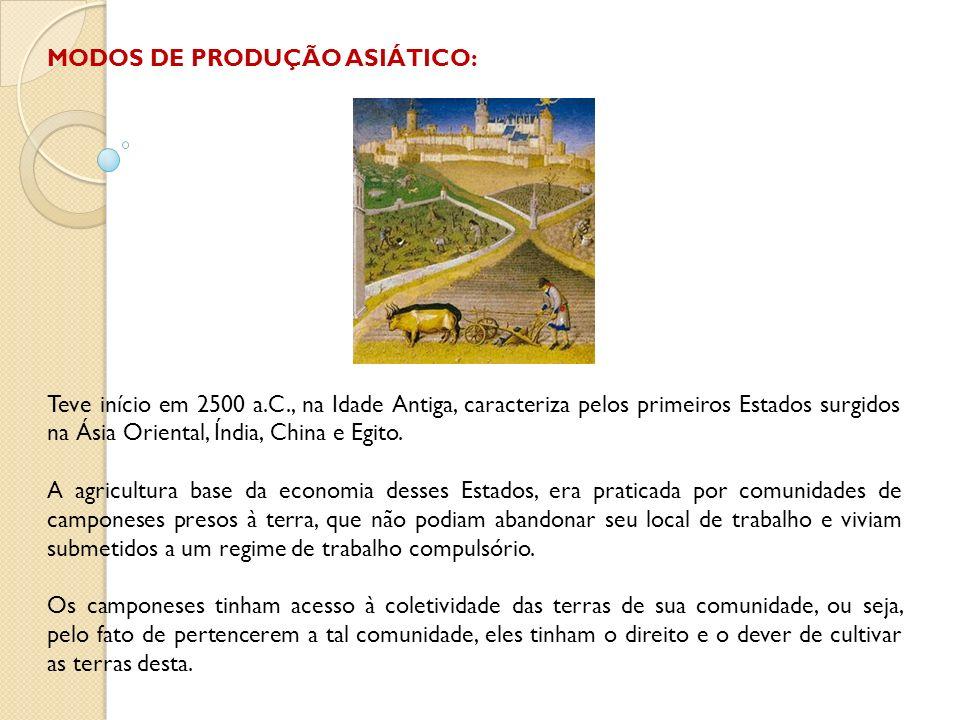 MODOS DE PRODUÇÃO ASIÁTICO: