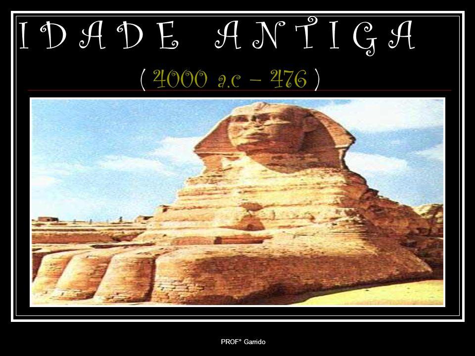 I D A D E A N T I G A ( 4000 a.c – 476 ) PROF° Garrido