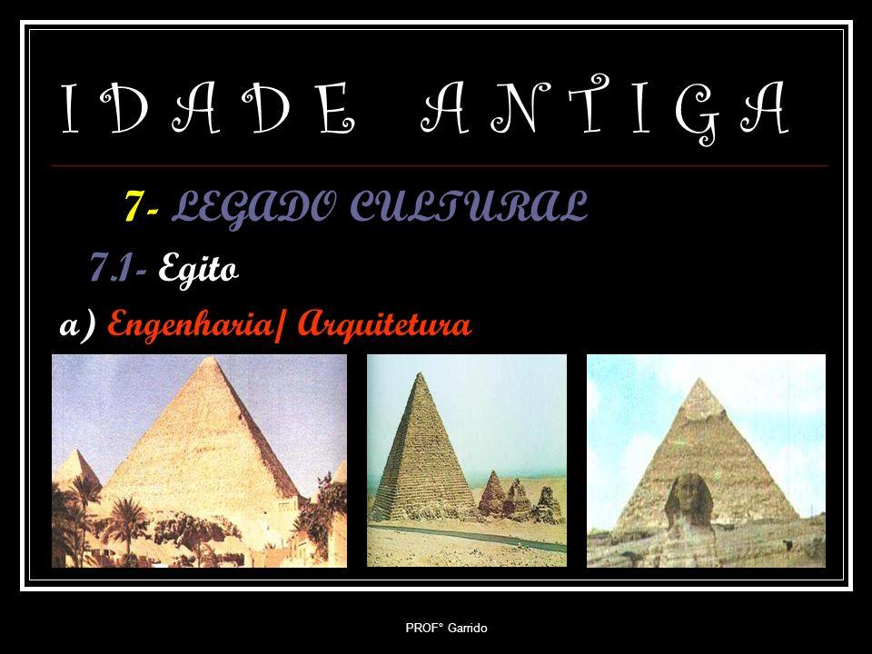 I D A D E A N T I G A 7- LEGADO CULTURAL 7.1- Egito