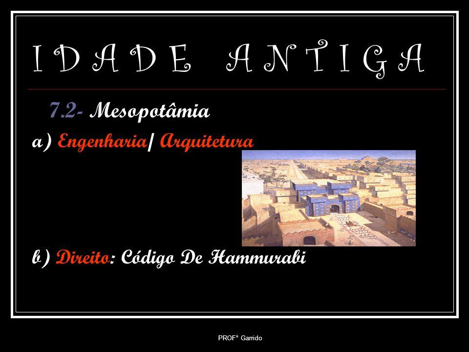 I D A D E A N T I G A 7.2- Mesopotâmia a) Engenharia/ Arquitetura