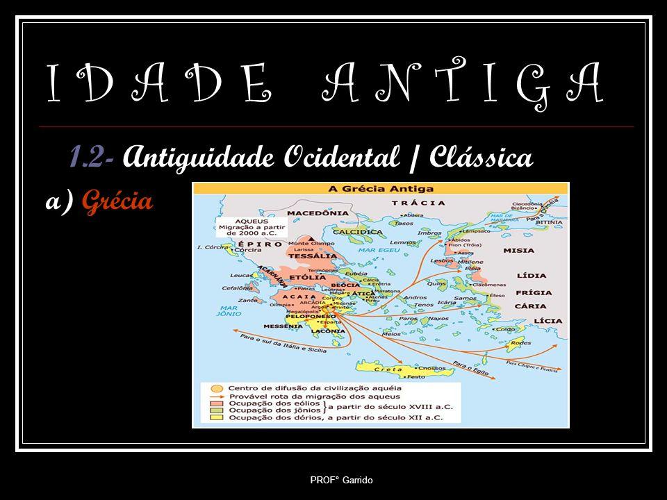 I D A D E A N T I G A 1.2- Antiguidade Ocidental / Clássica a) Grécia
