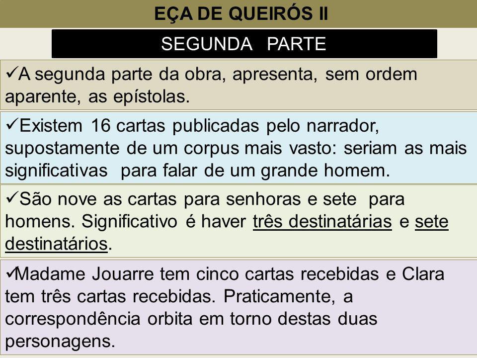 EÇA DE QUEIRÓS II SEGUNDA PARTE. A segunda parte da obra, apresenta, sem ordem aparente, as epístolas.